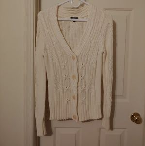 Talbots button up sweater
